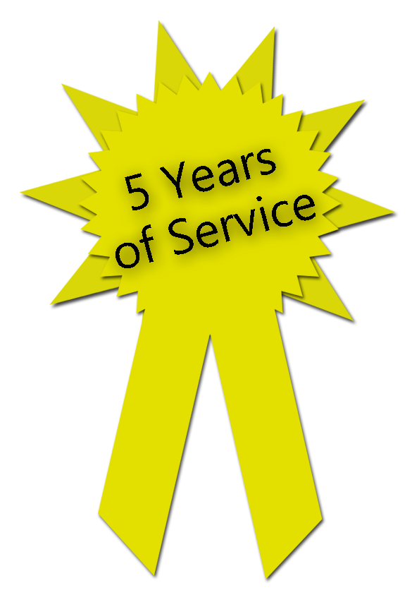 Five Years of Service